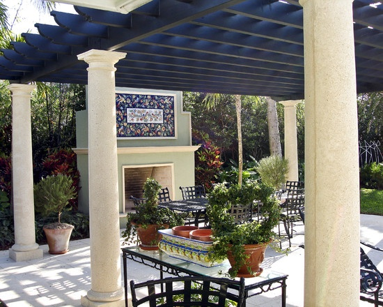 mediterranean patio pergola design decorating ideas. Black Bedroom Furniture Sets. Home Design Ideas