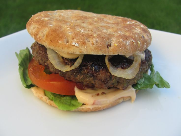 Jamaican Jerk Burger with Chipotle-Orange Mayonnaise | Recipe