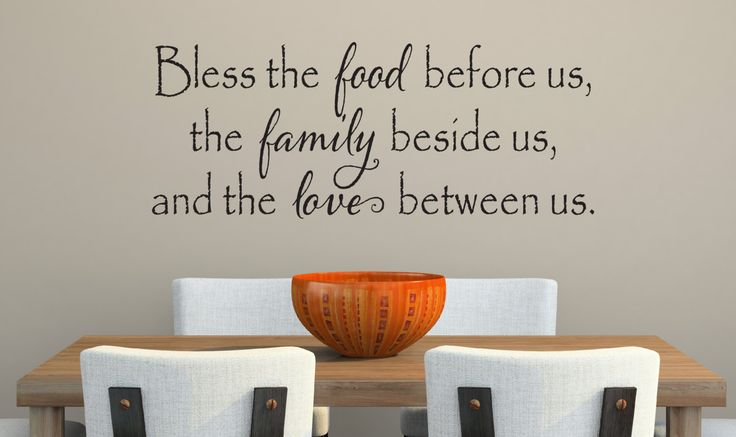 Bless The Food Before Us Wall Decal  Kitchen by DavisVinylDesigns, $18.00
