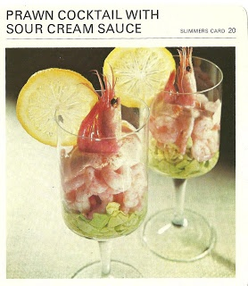 Prawn Cocktail with Sour Cream Sauce (Marguerite Patten's Recipe Cards ...