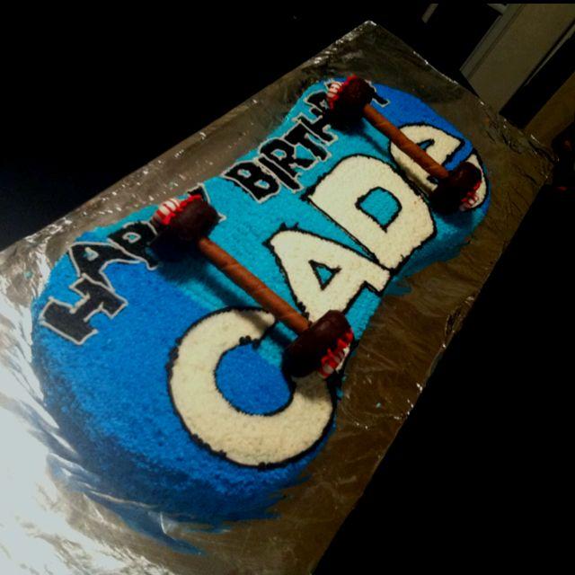 birthday cakes skateboard