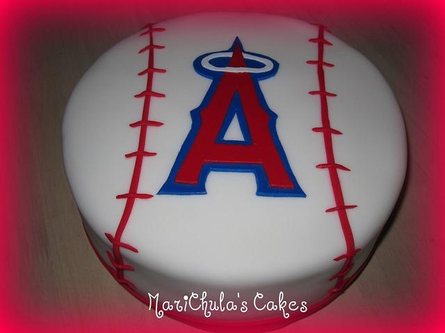 Angels Baseball Cake Pops
