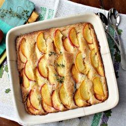 Peach Thyme Cake recipe | Sweet Treats | Pinterest