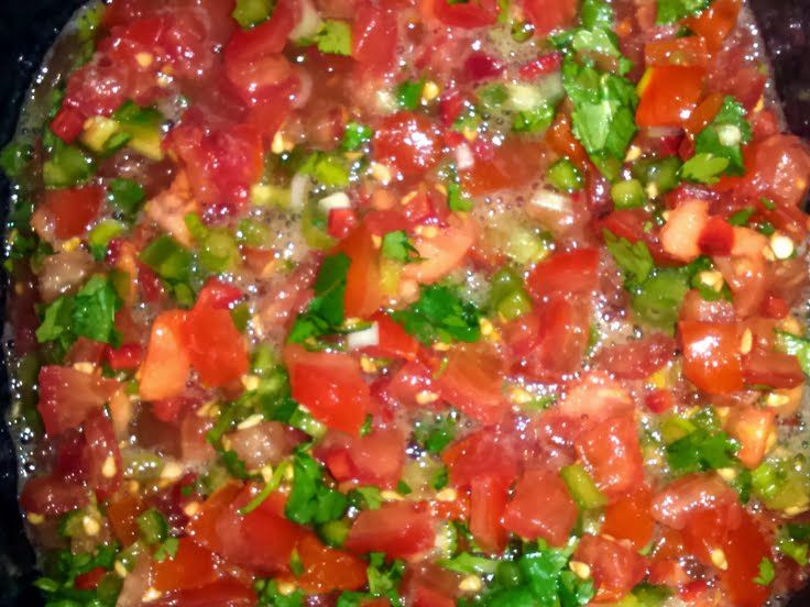 "Pico de Gallo Salsa! ""One must have a TALL glass of H2O when eating ..."