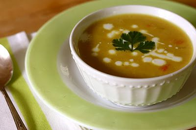 """Red lentil soup. I love Catherine Newman's recipe annotations. (""""Don..."""