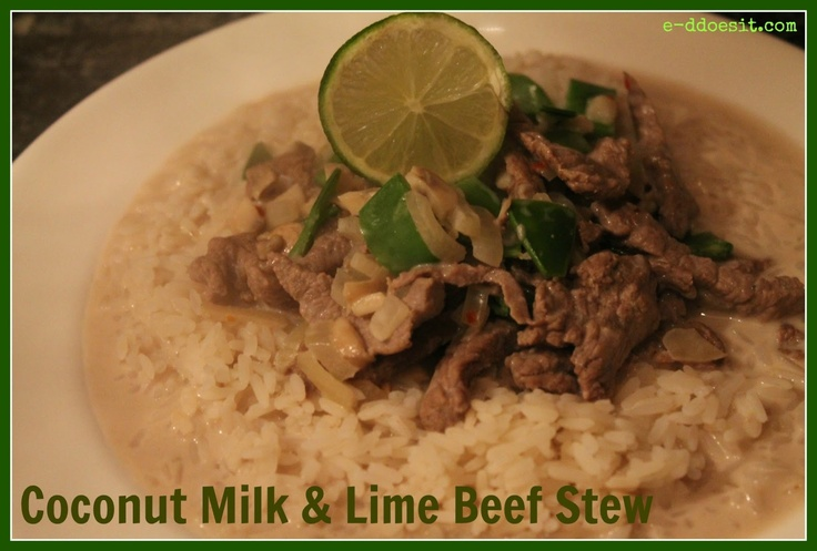 Coconut Milk and Lime Beef Stew   Savory Recipes to Make   Pinterest