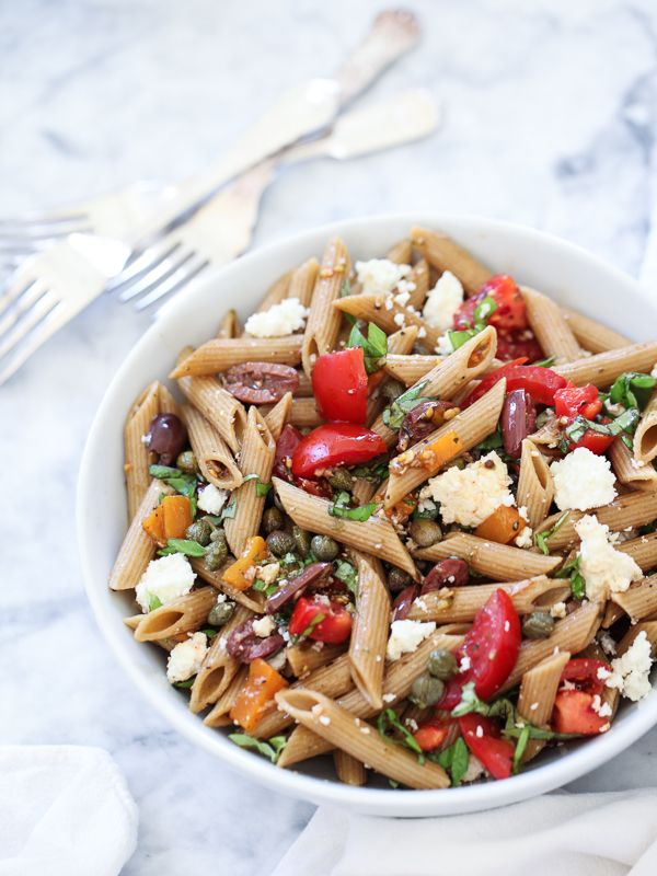 Wheat Greek Pasta Salad plus 5 more Mediterranean inspired pasta salad ...