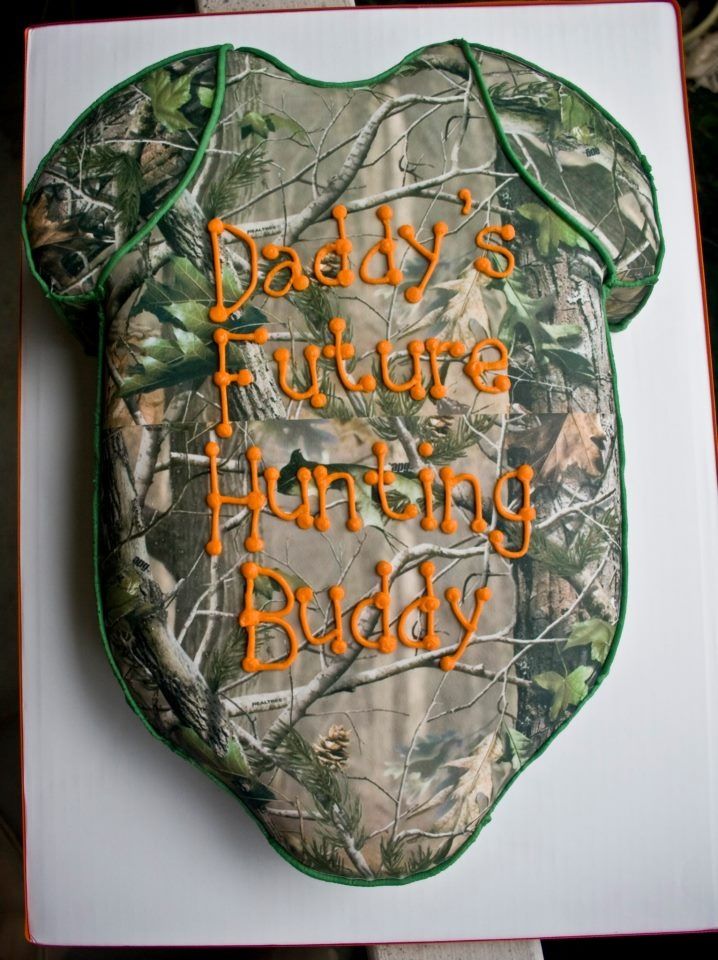 hunting themed onsie baby shower cake incredibly edible cakes and