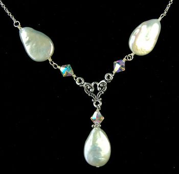 Aurora Borealis Pearl Wedding Necklace Jewelry Design Ideas