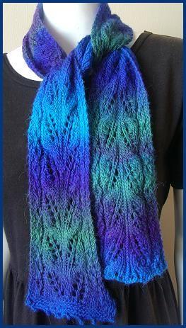 Mini Mochi Jasmine Lace scarf pattern - Crystal Palace Yarns - free knitting ...