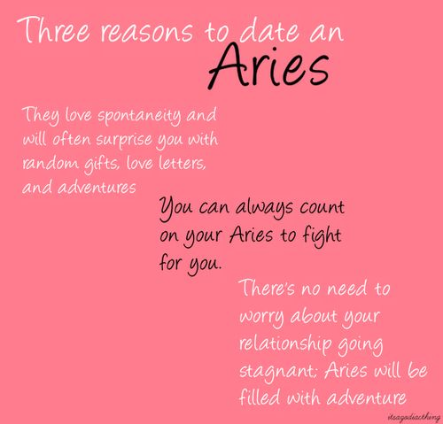 Dating an aries guy