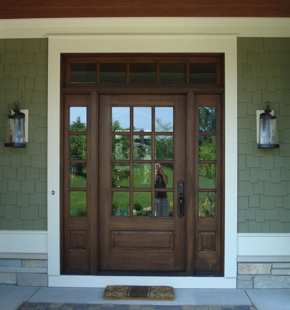 Front Doors Front Door With Sidelights And Transom