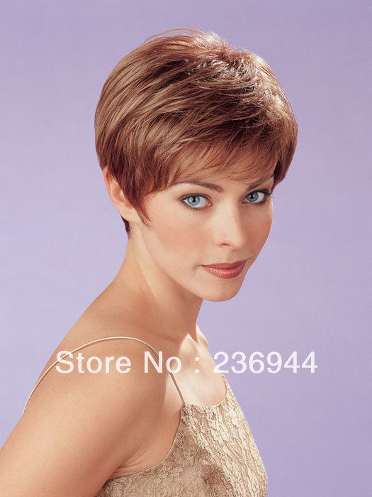 "100% Hand Made Short Human Hair Wig,3.25"" Side 2.5"" Nape 2"" Crown 5 ..."