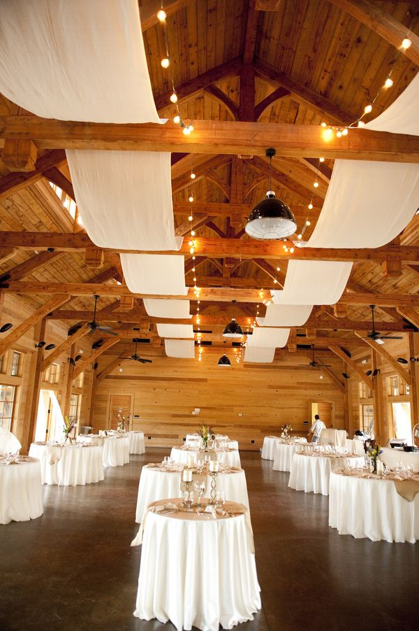 Rustic Elegant Backyard Wedding : An elegant outdoor rustic event with a beautiful cotton ceiling runner