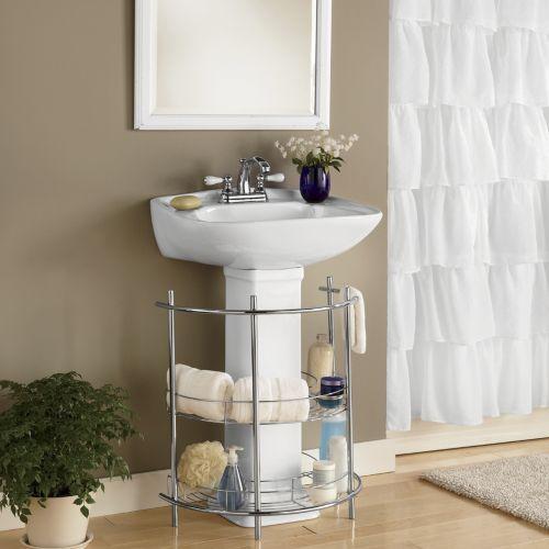 Elegant Pedestal Sink Storage Cabinet Hammacher Schlemmer Bathroom Pedestal