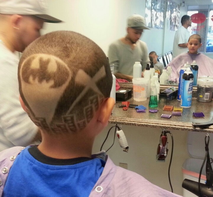 Batman hair tat...