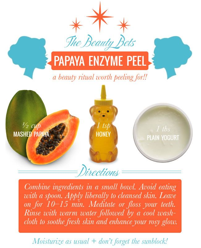 The Beauty Bets DIY Papaya Enzyme Peel via @Melissa Spivak. Lilien