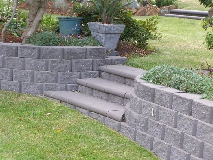 retaining wall idea Garden Ideas Pinterest
