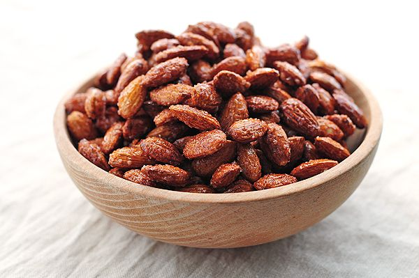 Candied Almonds are a sweet, simple and healthy snack made by roasting ...