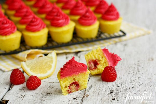 Lemon Baby Cupcake with Fresh Raspberry Buttercream (with a little ...