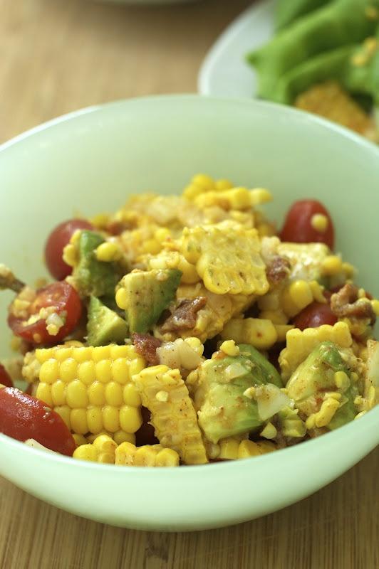 Oven Love: Joy's BLT Corn Salad Wraps | Recipes | Pinterest