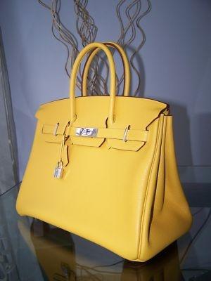 Birkin Hermes Authentic 35 Cm Togo Soleil Yellow New ahhhhhhh! One day!