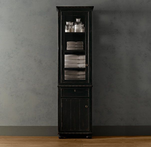 Tall Black Linen Cabinet For The Home I Want Pinterest