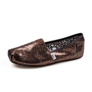 Toms Glitter Shoes Women Coffee $19.99