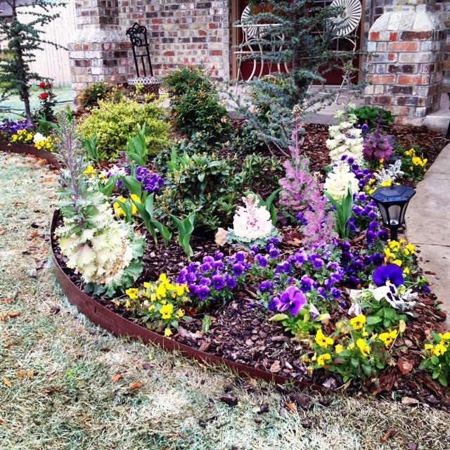Spring flower bed a board pinterest for Flowers for flower beds