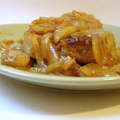Spiced Caramel Apple Pork Chops