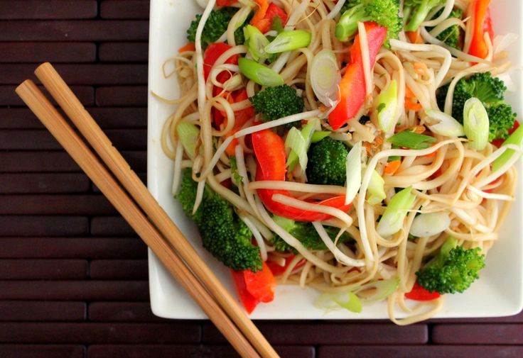 Asian Noodle & Veggie Salad w/Soy Viniagrette - Yum! *replace Asian ...