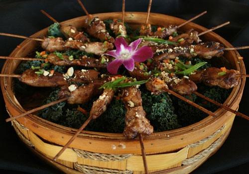 Kung Pao Chicken Skewer | Lancer Catering Menu | Pinterest