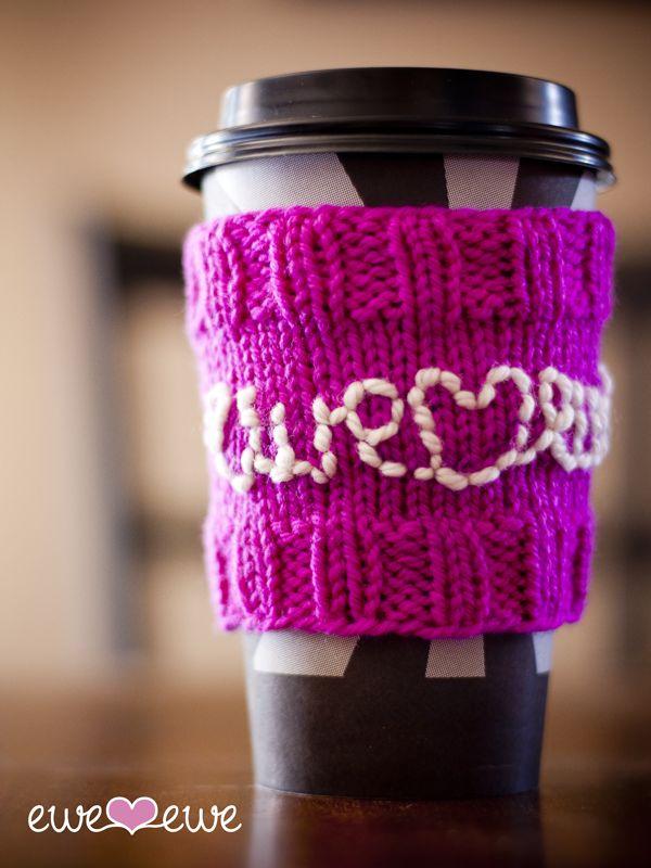 Coffee Cozy Knit Pattern : Cozy Coffee FREE Knitting Pattern Free crochet patterns ...