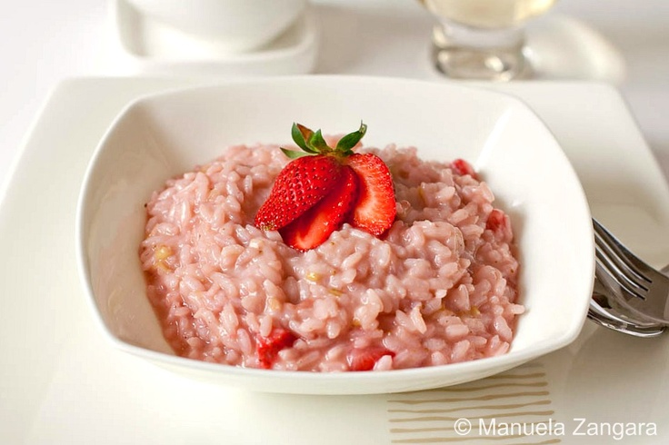 STRAWBERRY RISOTTO; savory not sweet.