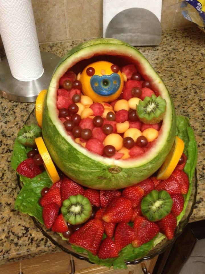 diy baby shower fruit platter christmas day food ideas pinterest