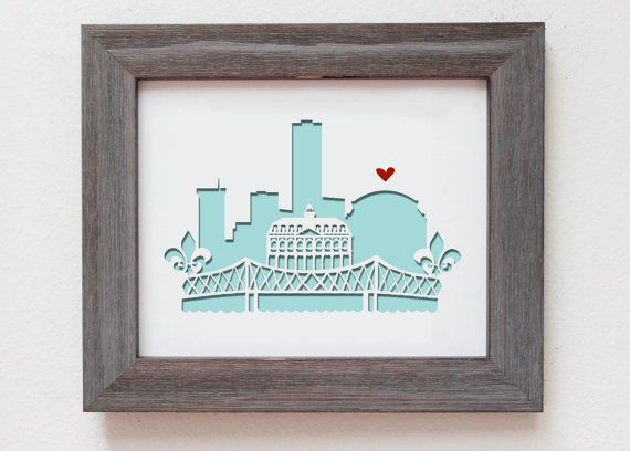 new orleans la personalized gift or wedding gift With new orleans wedding gifts