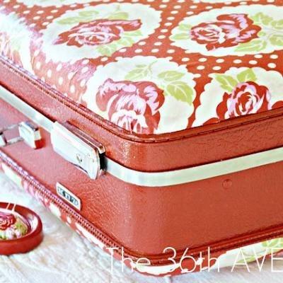 Mod Podge Suitcase {tutorial}