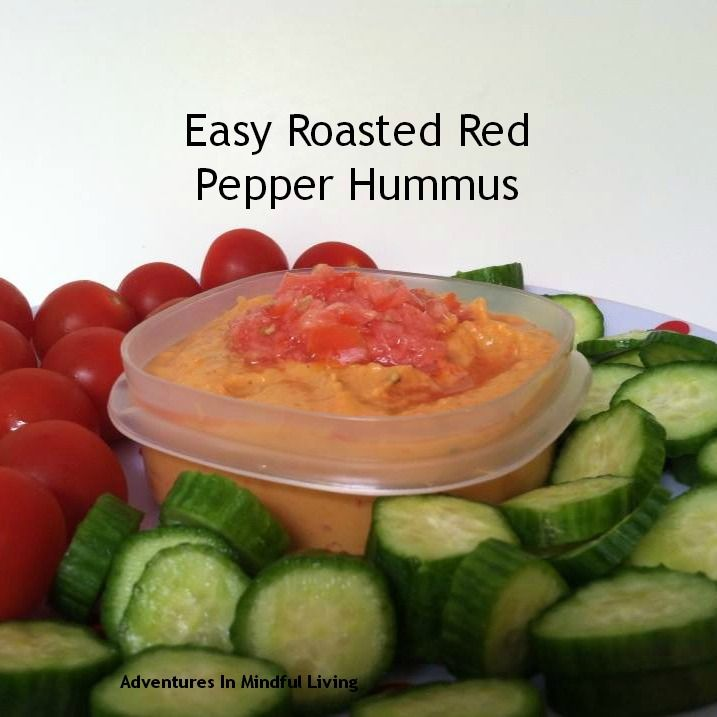 Easy Roasted Red Pepper Hummus! Easy and yummy Snack!!   Recipes I ...