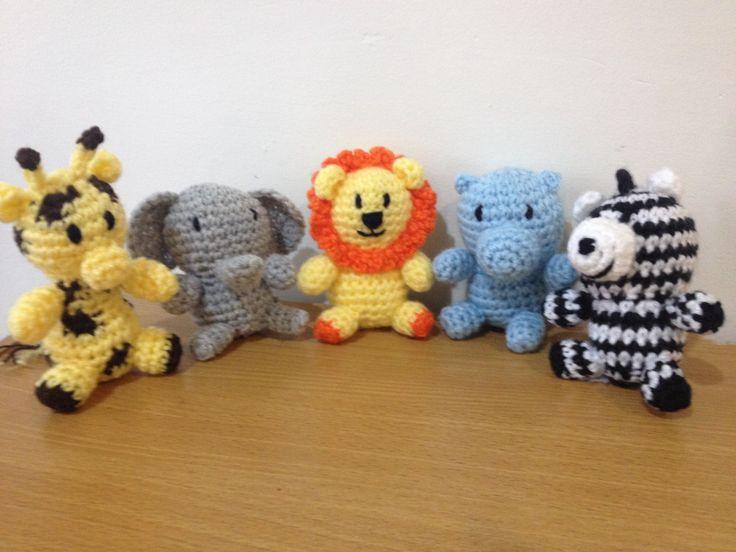 Crochet Patterns For Jungle Animals : Crochet Safari Animals Baby/Dino/Owl Crochet Pinterest