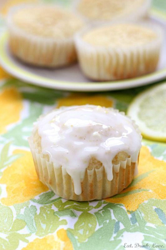 Tuscan Lemon Muffins with Lemon Glaze -thinking lemon glaze over ...