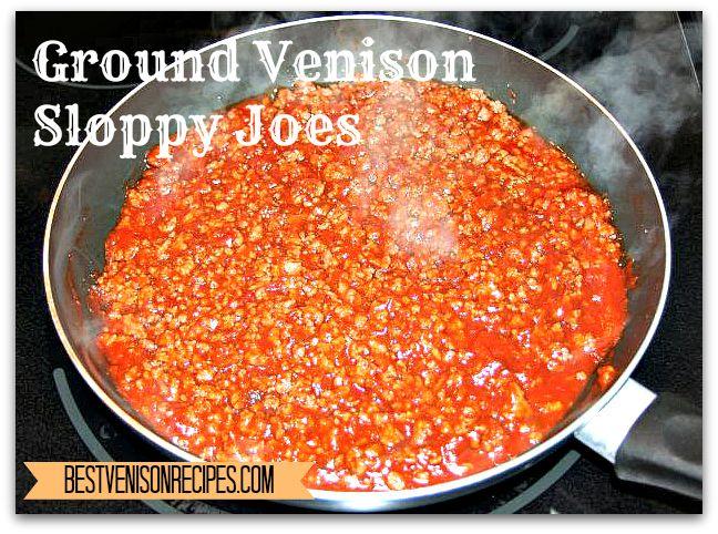 Ground Venison Sloppy Joes - Best Venison Recipes