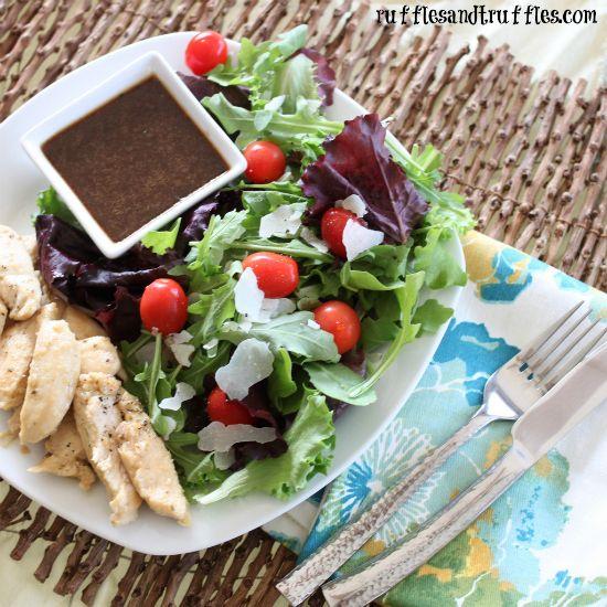 Garlic Herb Chicken Salad w/ Balsamic Vinaigrette made with Saute ...