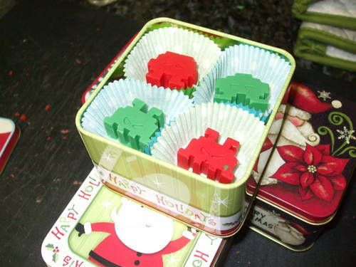 Christmas Themed Space Invader Chocolates - COOKING holiday gifts and ...
