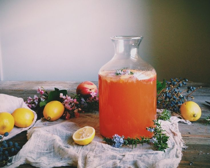 peach and rosemary blossom lemonade. | eva kosmas flores | VSCO Grid