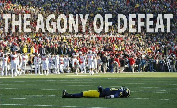 the agony of defeat college football pinterest