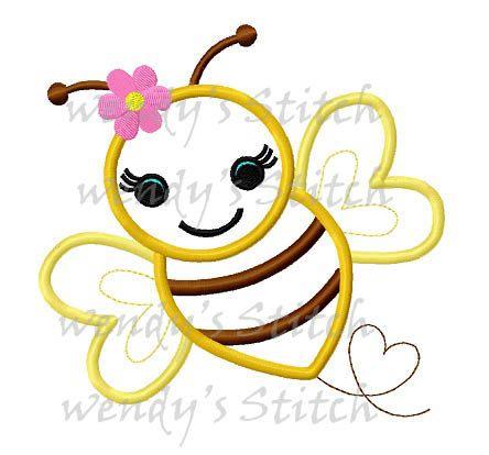 Crochet Pattern: Busy Bee Applique