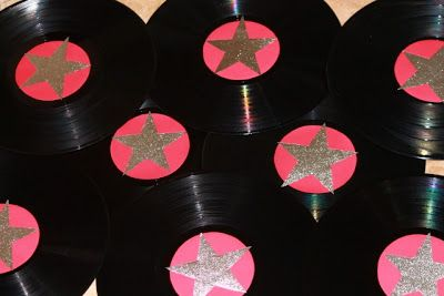 Record decoration cakes candy streamers and more for Record decoration ideas