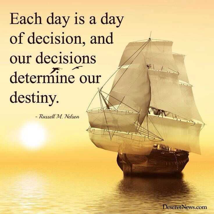 our decisions determine our destiny What does the bible say about destiny or fate  he made us people of free will to make choices that will lead our destiny to eternity in  what's your destiny.