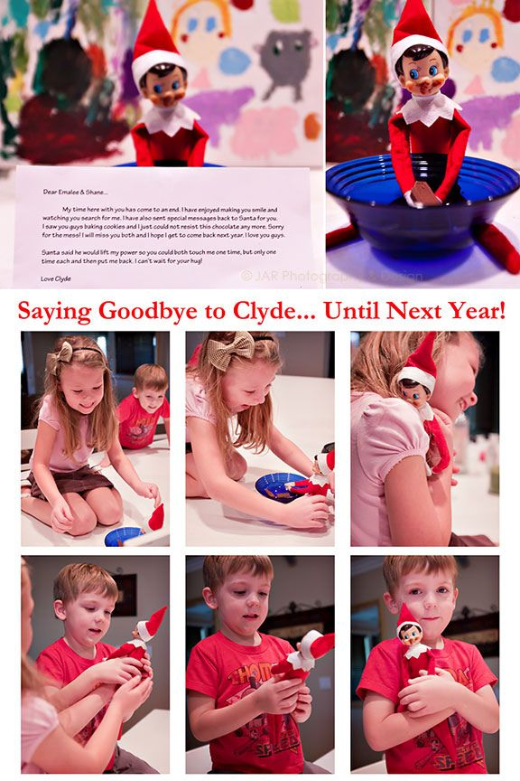 elf on a shelf- saying goodbye at end of year