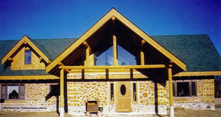 Pin by mama buzz on timber frame cordwood and log cabins for Cordwood house foundation